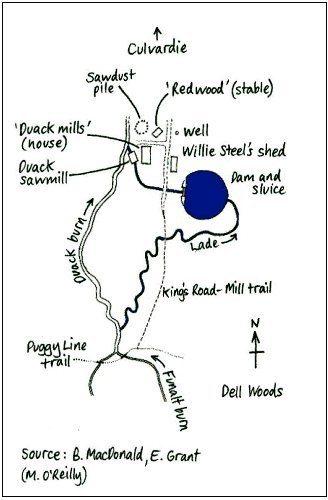 Duack Sawmill map
